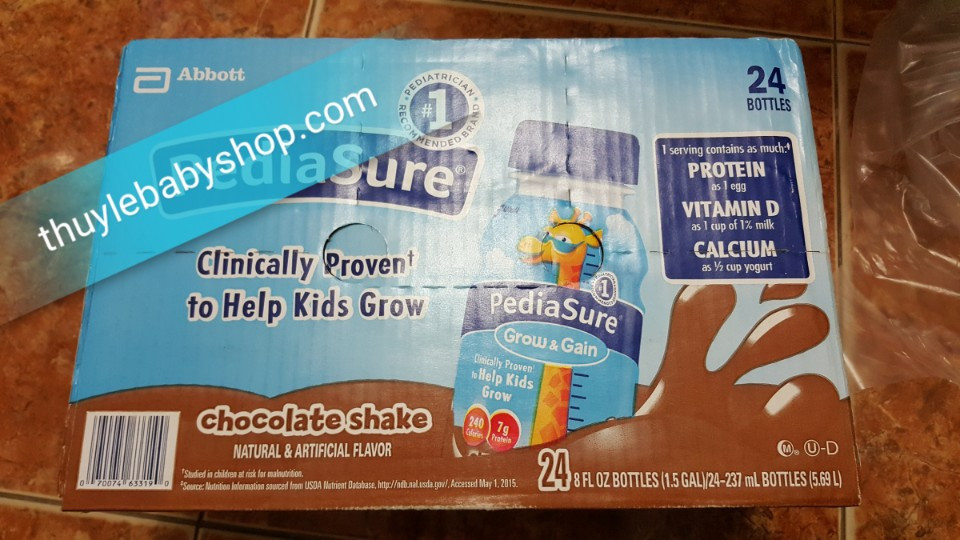Sữa Perdiasure nước Pediasure Grow and Gain - 237ml vị socola